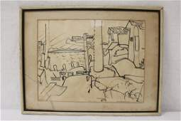 Ink on paper signed Hans Hoffman with original receipt