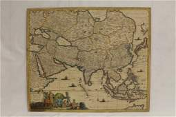 An important map of Asia, c1680 by Frederick De Wit
