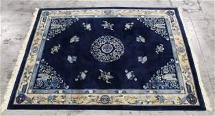 Large Chinese blue background Nichols rug