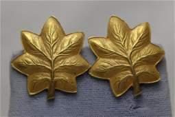 Pair Tiffany & co. 14K earrings