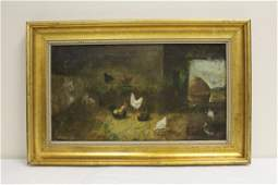 Oil on canvas laid on board by Alfred Montgomery