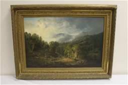 """Antique Oil on canvas """"landscape"""""""