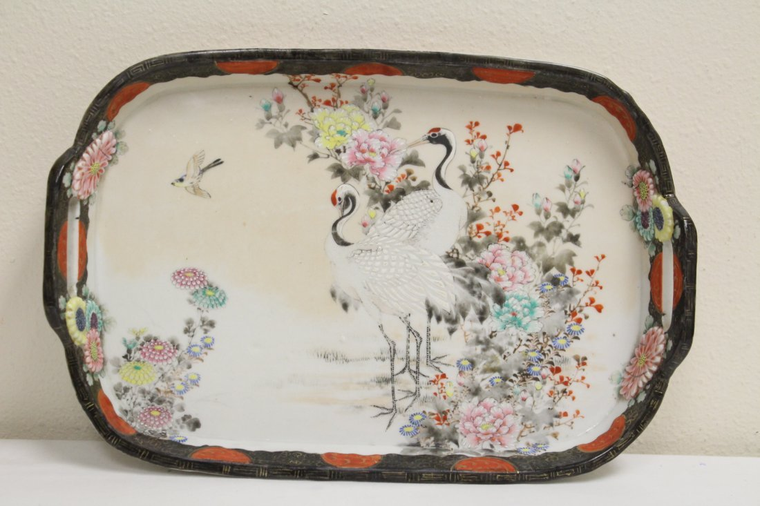 Japanese 17th/18th c. Kakiemon porcelain tray