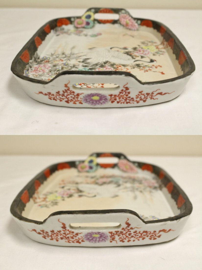 Japanese 17th/18th c. Kakiemon porcelain tray - 8