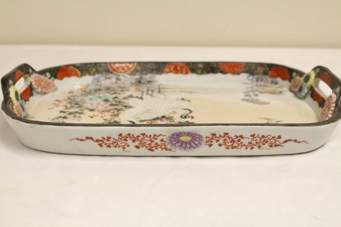 Japanese 17th/18th c. Kakiemon porcelain tray - 9
