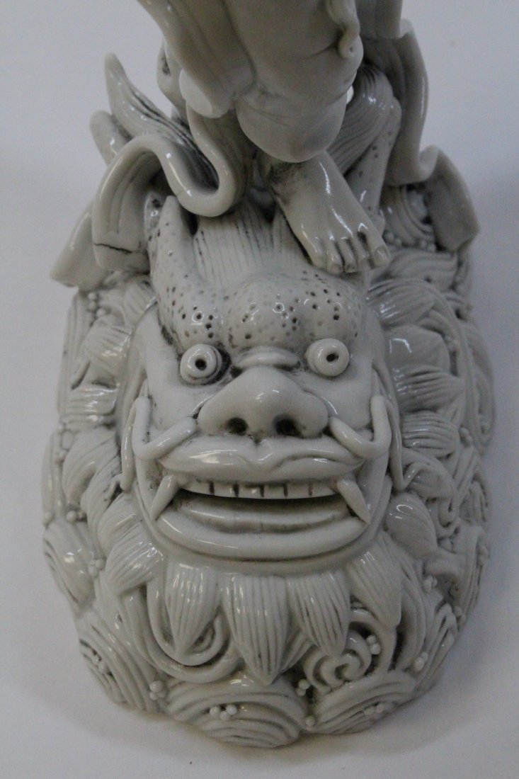 Chinese white porcelain sculpture of Lohan - 6