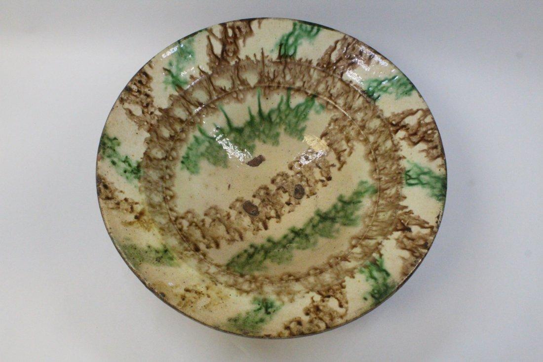 Chinese antique sancai pottery bowl - 2