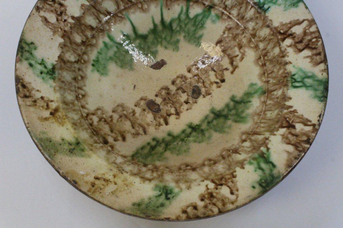 Chinese antique sancai pottery bowl - 4