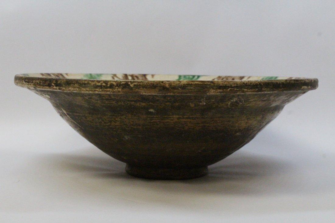 Chinese antique sancai pottery bowl - 6