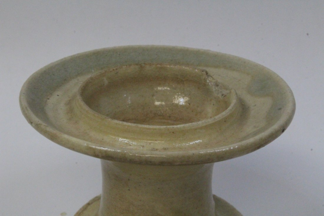 Chinese antique light celadon oil lamp - 5