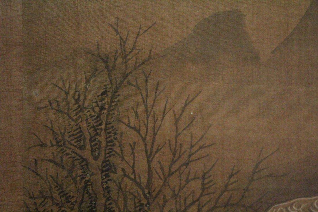 Chinese framed w/c on silk, signed Wen Zheng Ming - 10