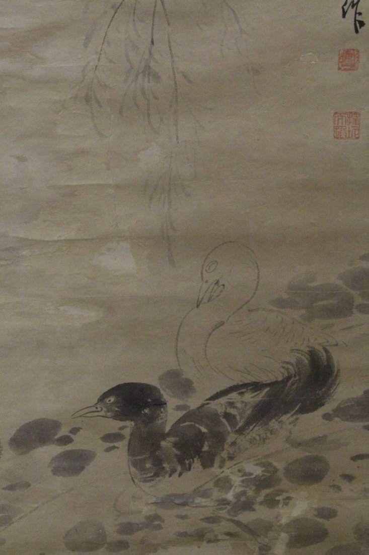 Chinese watercolor on rice paper by Pu Ru - 2