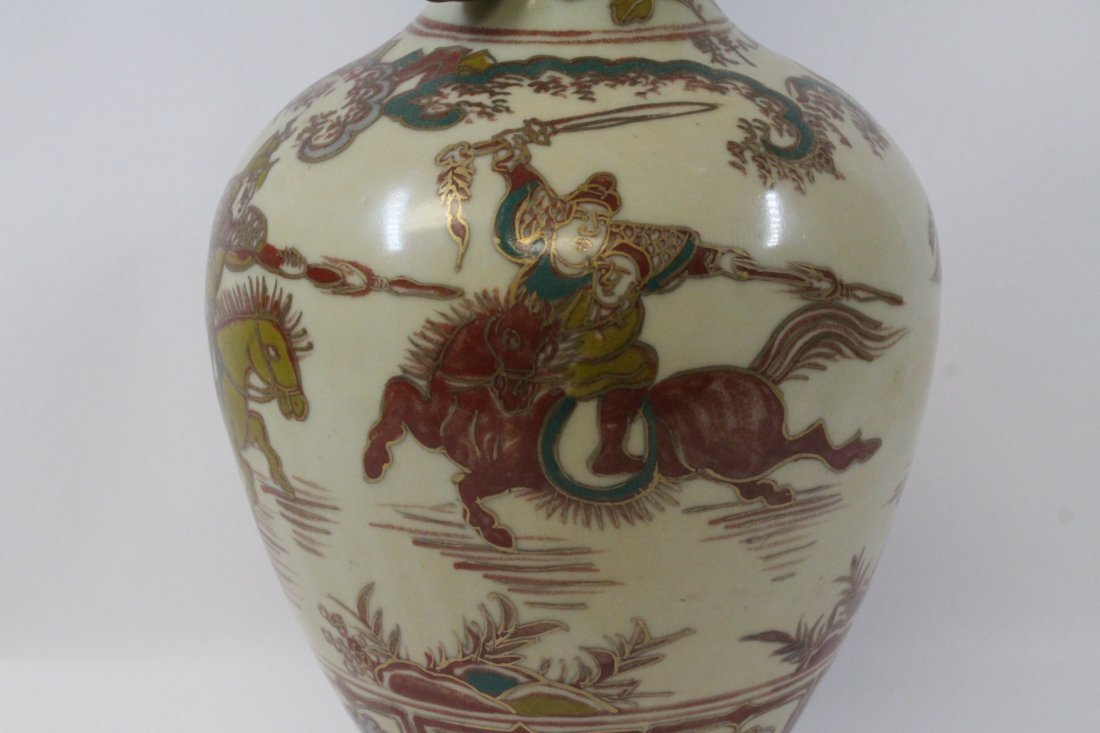 Chinese wucai porcelain vase - 4