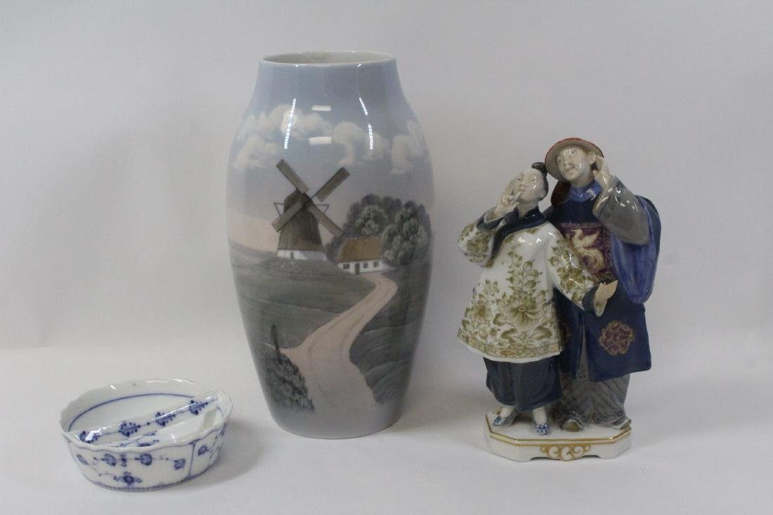 3 Royal Copenhagn porcelain pieces