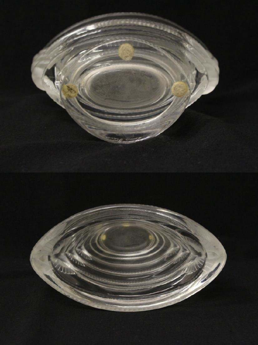 Unusual crystal bowl by Lalique - 9