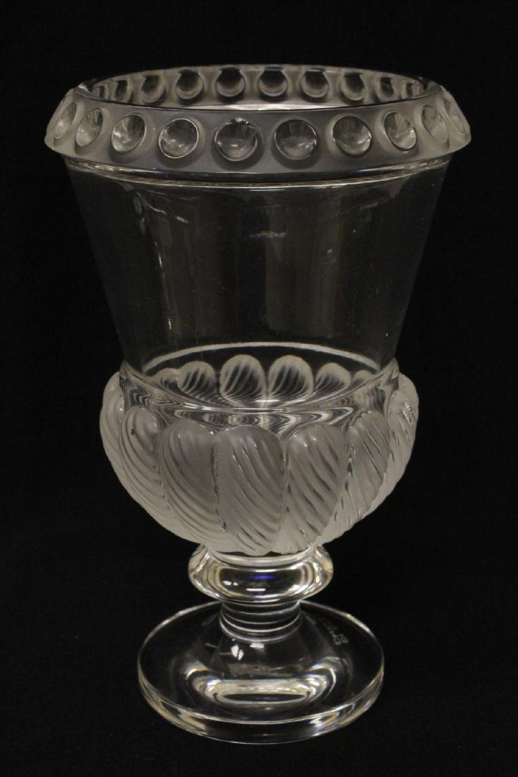 2 crystal compote vasesby Lalique - 2