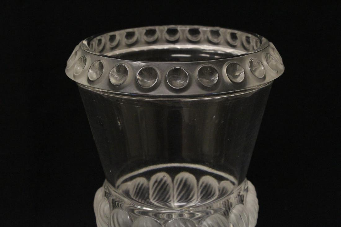2 crystal compote vasesby Lalique - 3