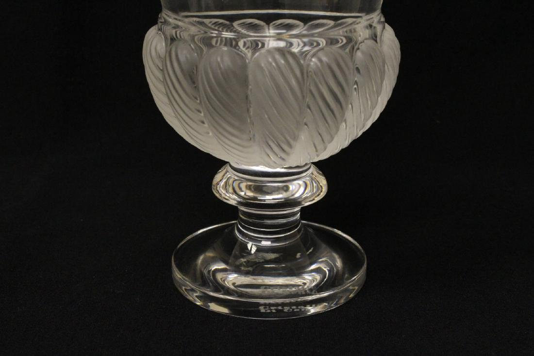 2 crystal compote vasesby Lalique - 4