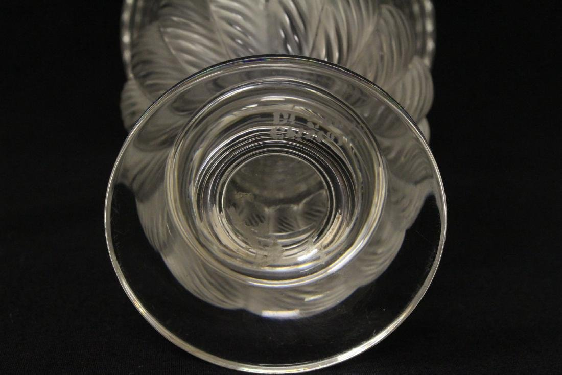 2 crystal compote vasesby Lalique - 5