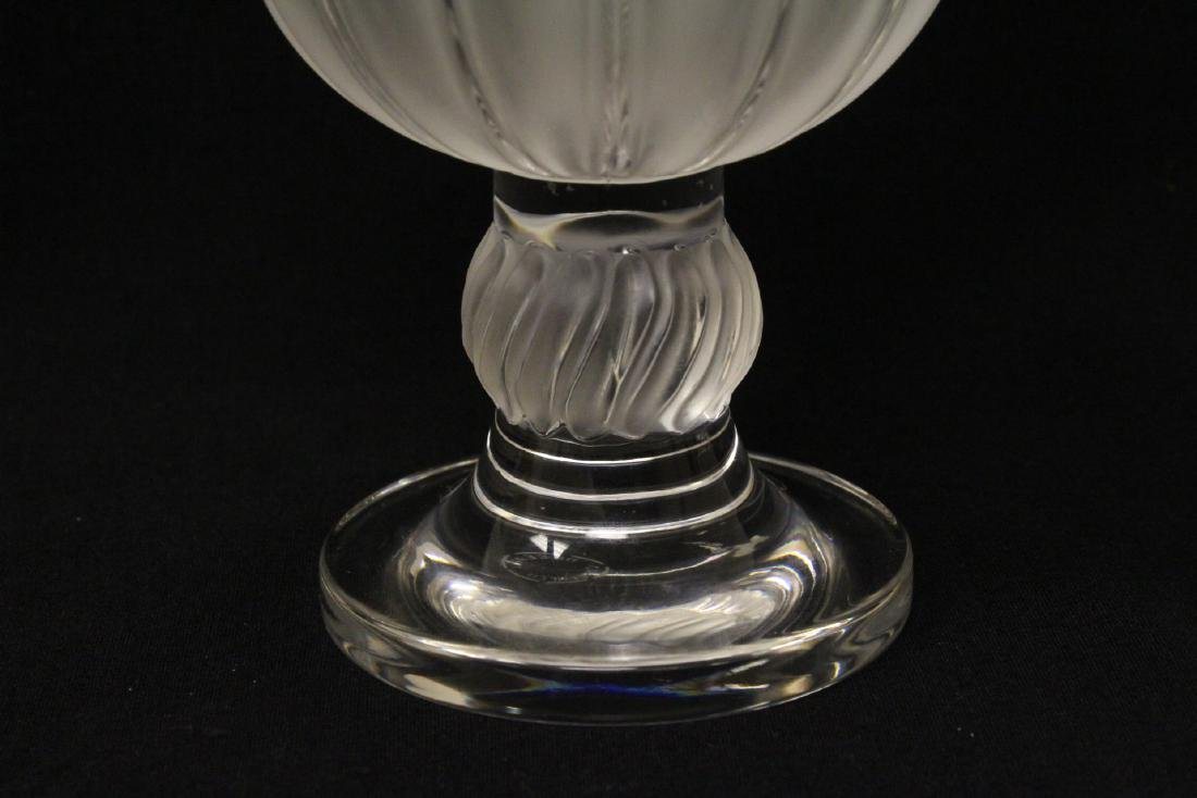 2 crystal compote vasesby Lalique - 8