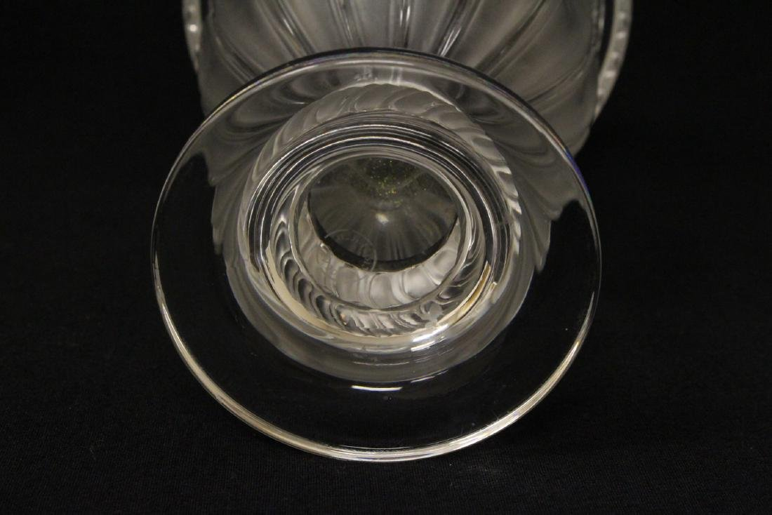2 crystal compote vasesby Lalique - 9