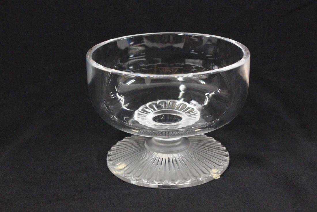 Lalique crystal center compote