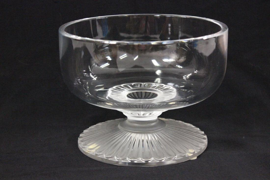 Lalique crystal center compote - 2