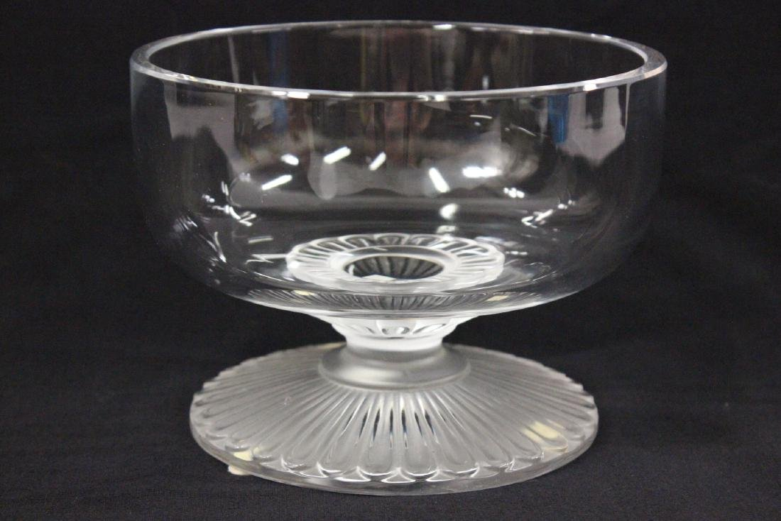 Lalique crystal center compote - 3