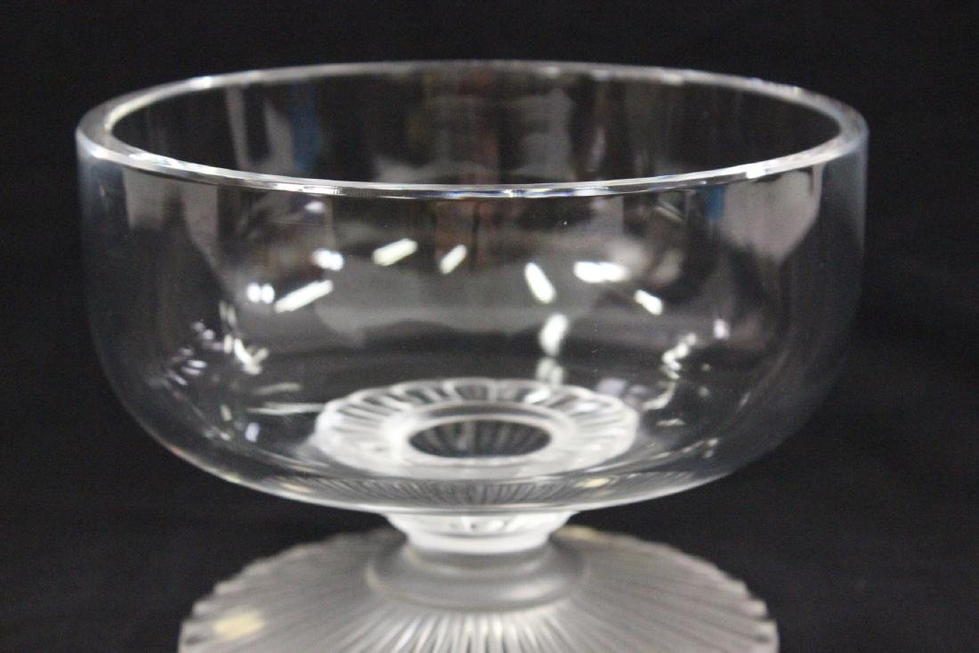 Lalique crystal center compote - 6