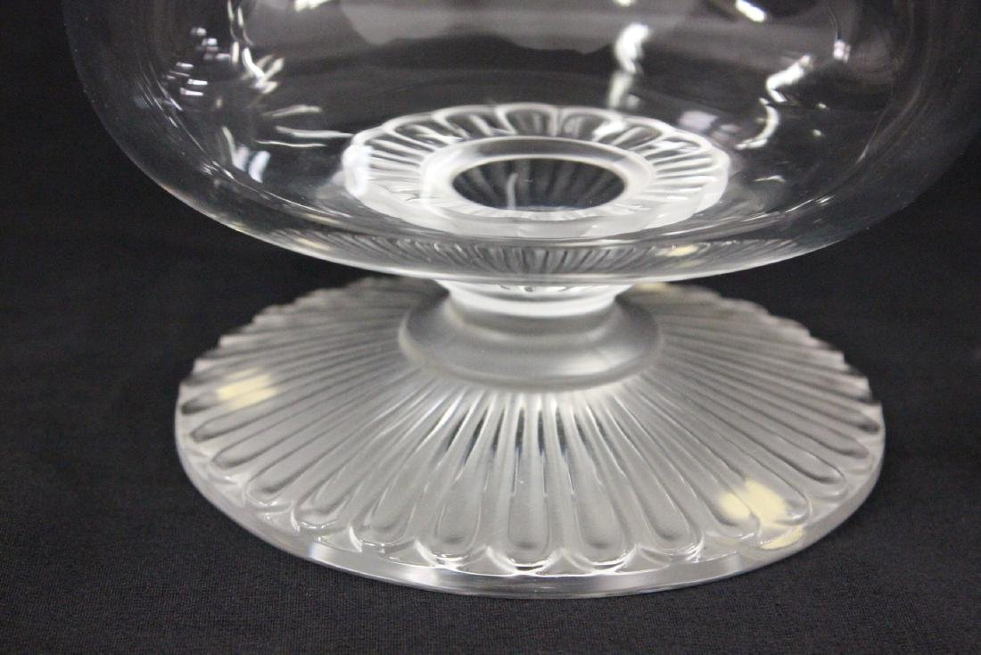 Lalique crystal center compote - 7