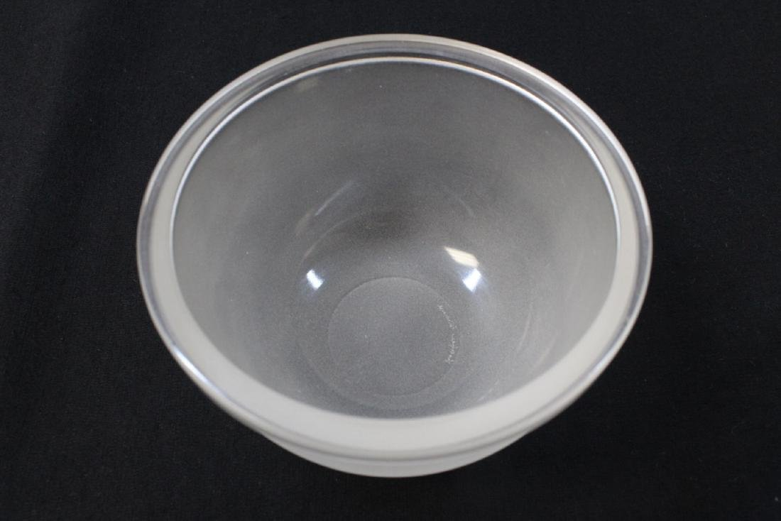unsigned crystal covered bowl by Lalique - 7