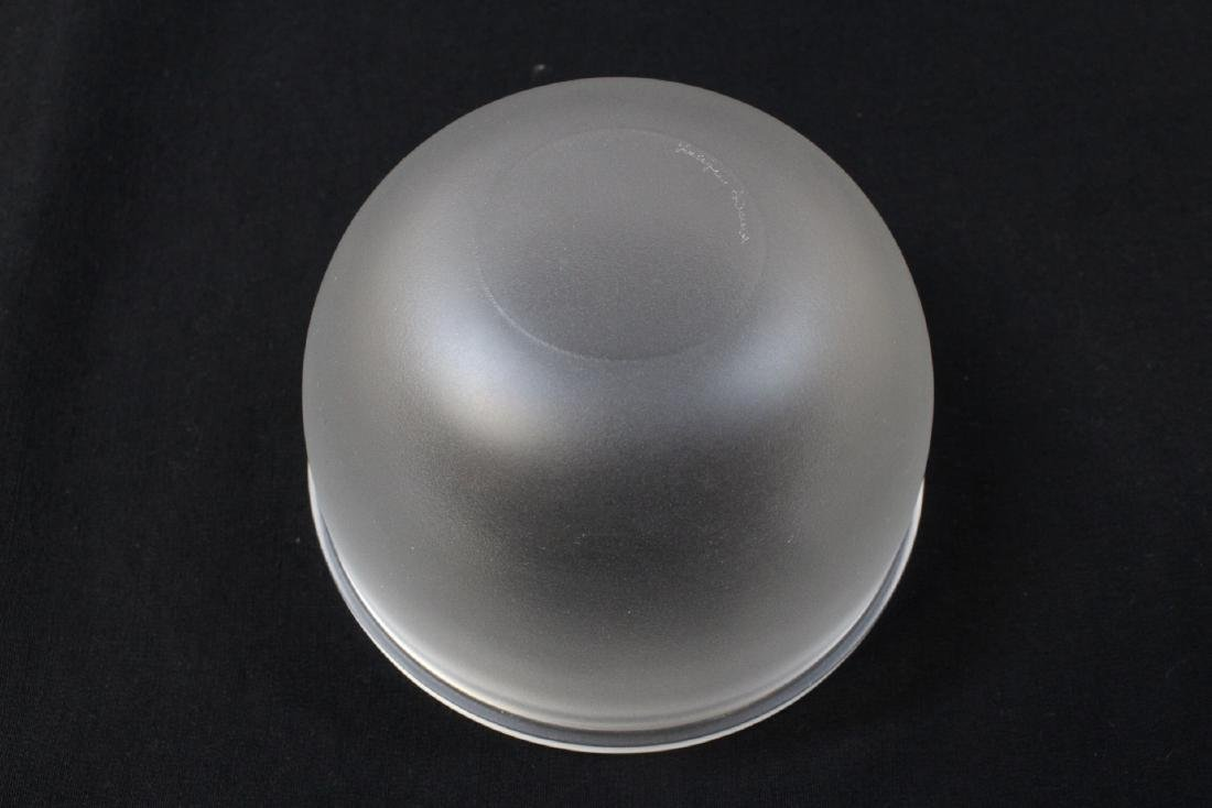 unsigned crystal covered bowl by Lalique - 8