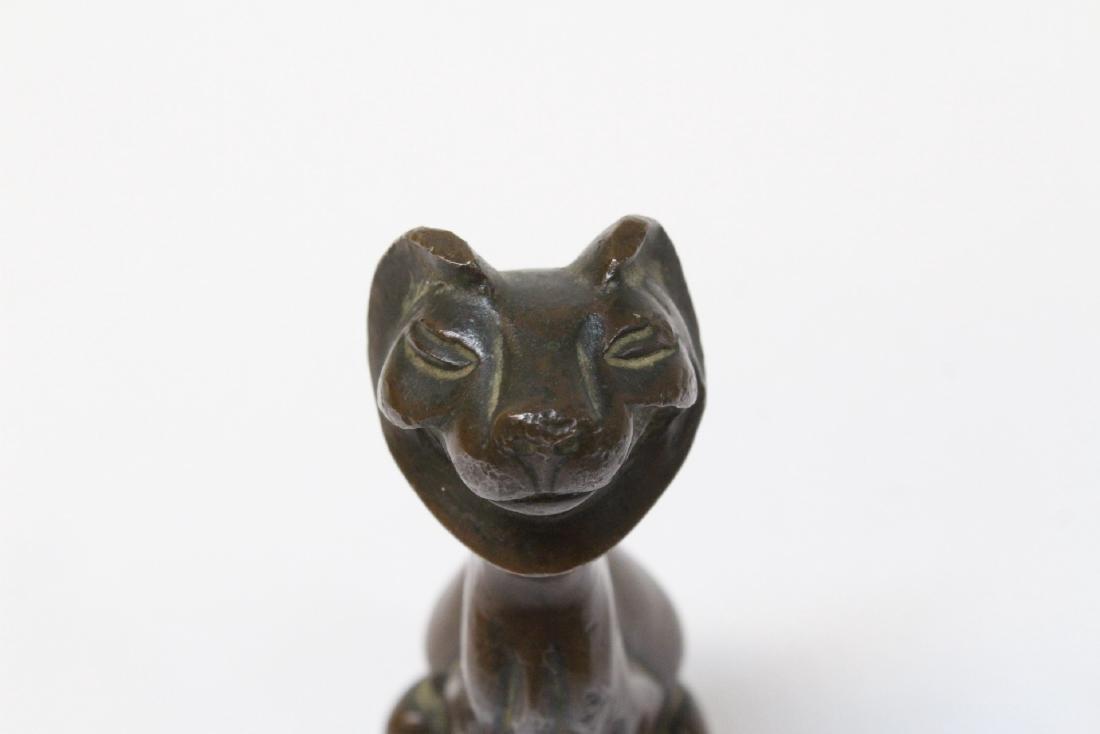 Antique Vienna bronze lion - 5