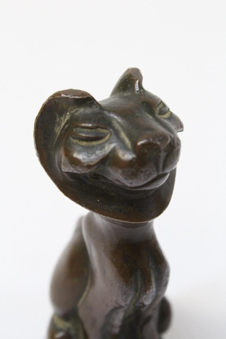 Antique Vienna bronze lion - 8