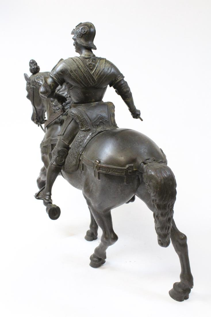 Antique Russian bronze sculpture of soldier on horse - 3