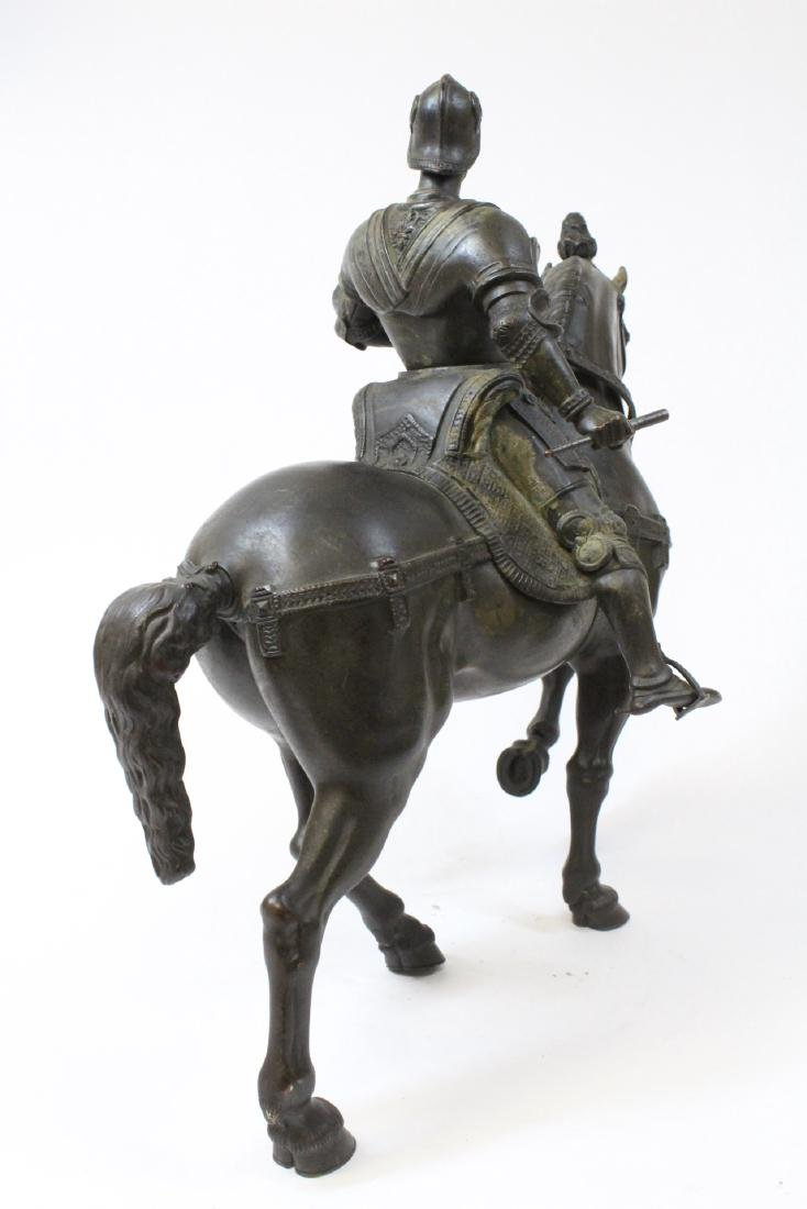 Antique Russian bronze sculpture of soldier on horse - 4
