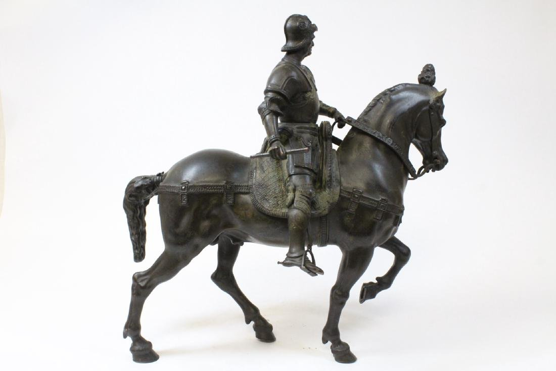 Antique Russian bronze sculpture of soldier on horse - 5