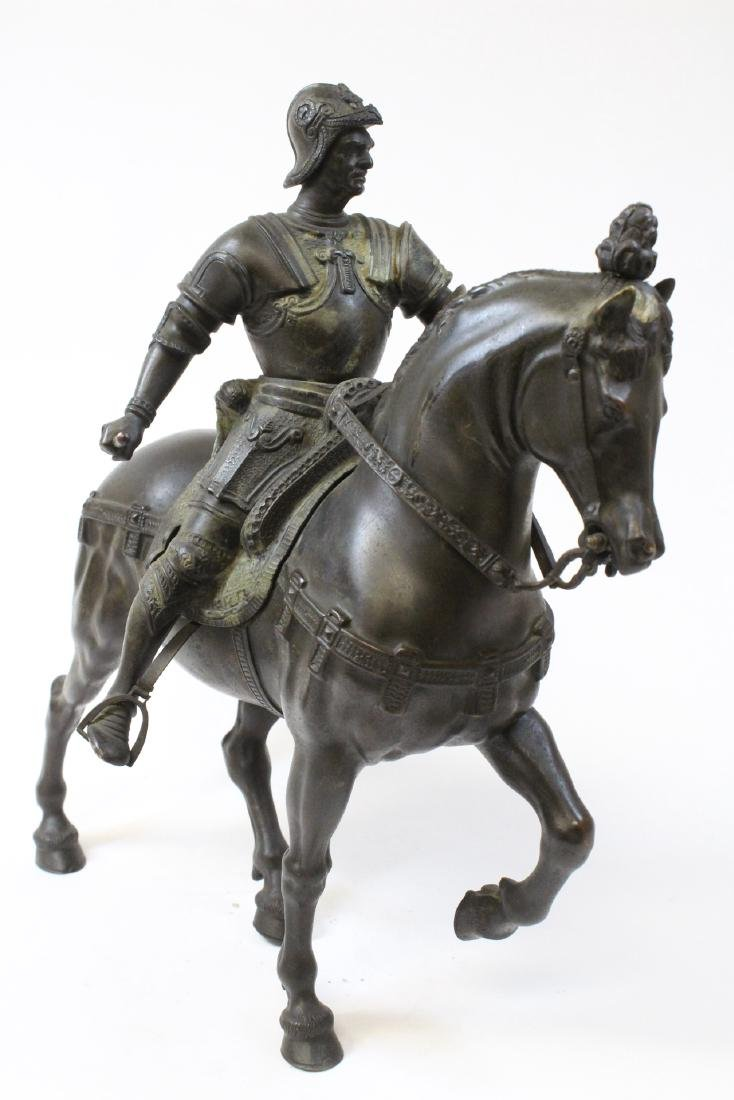 Antique Russian bronze sculpture of soldier on horse - 6