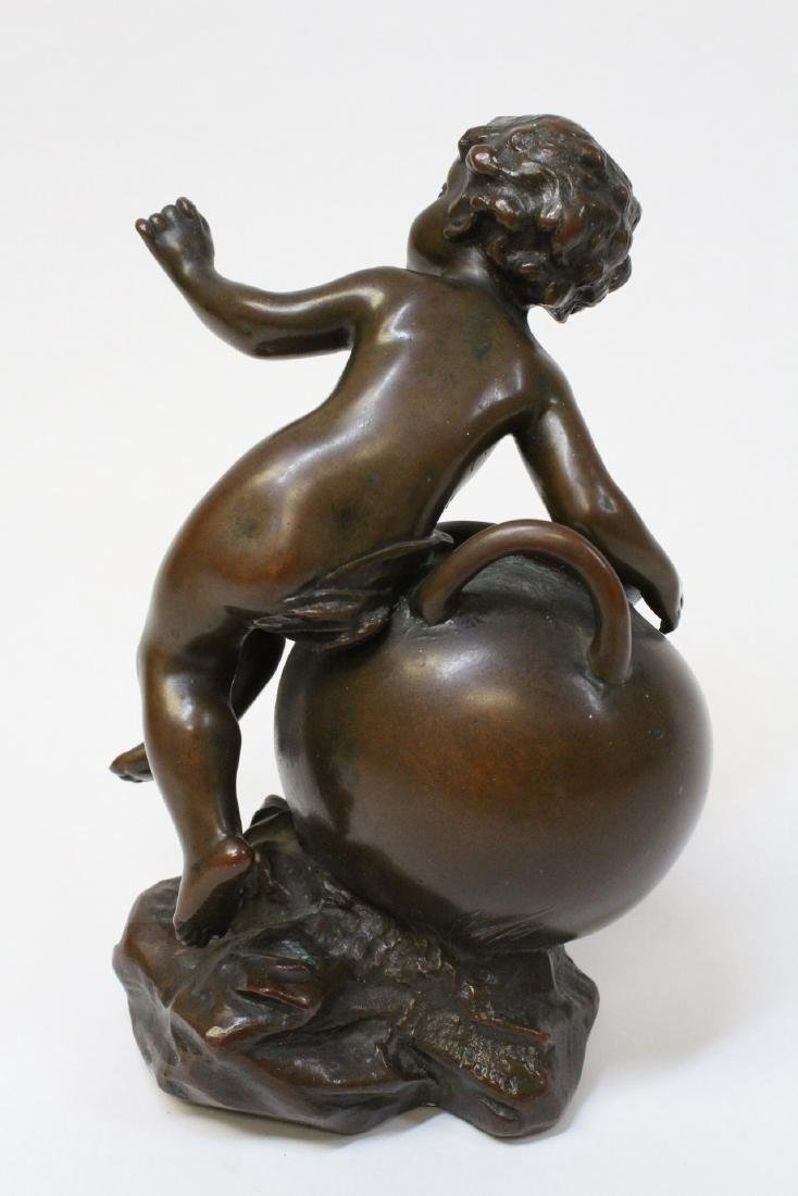 Antique French bronze sculpture, signed - 3