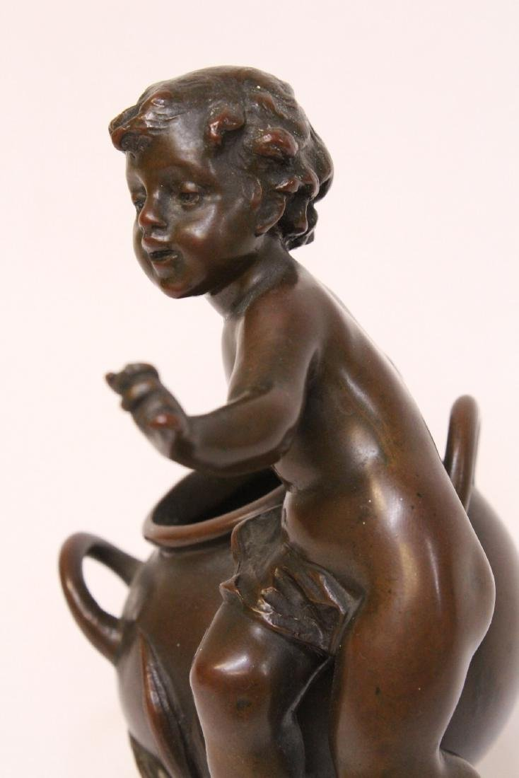 Antique French bronze sculpture, signed - 8