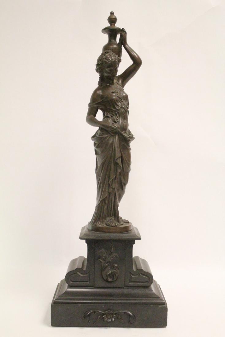 Antique European bronze sculpture