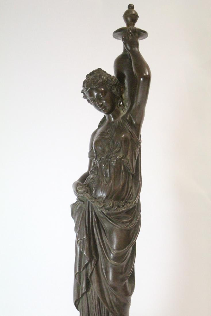 Antique European bronze sculpture - 9
