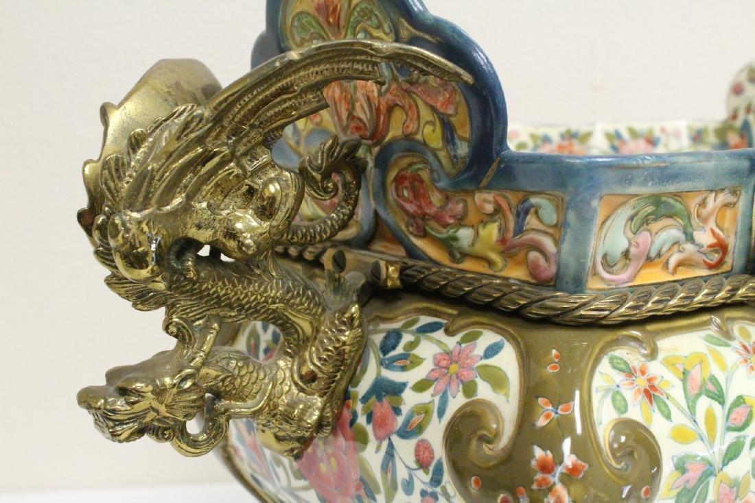 Austrian 19th c. hand painted porcelain planter - 10