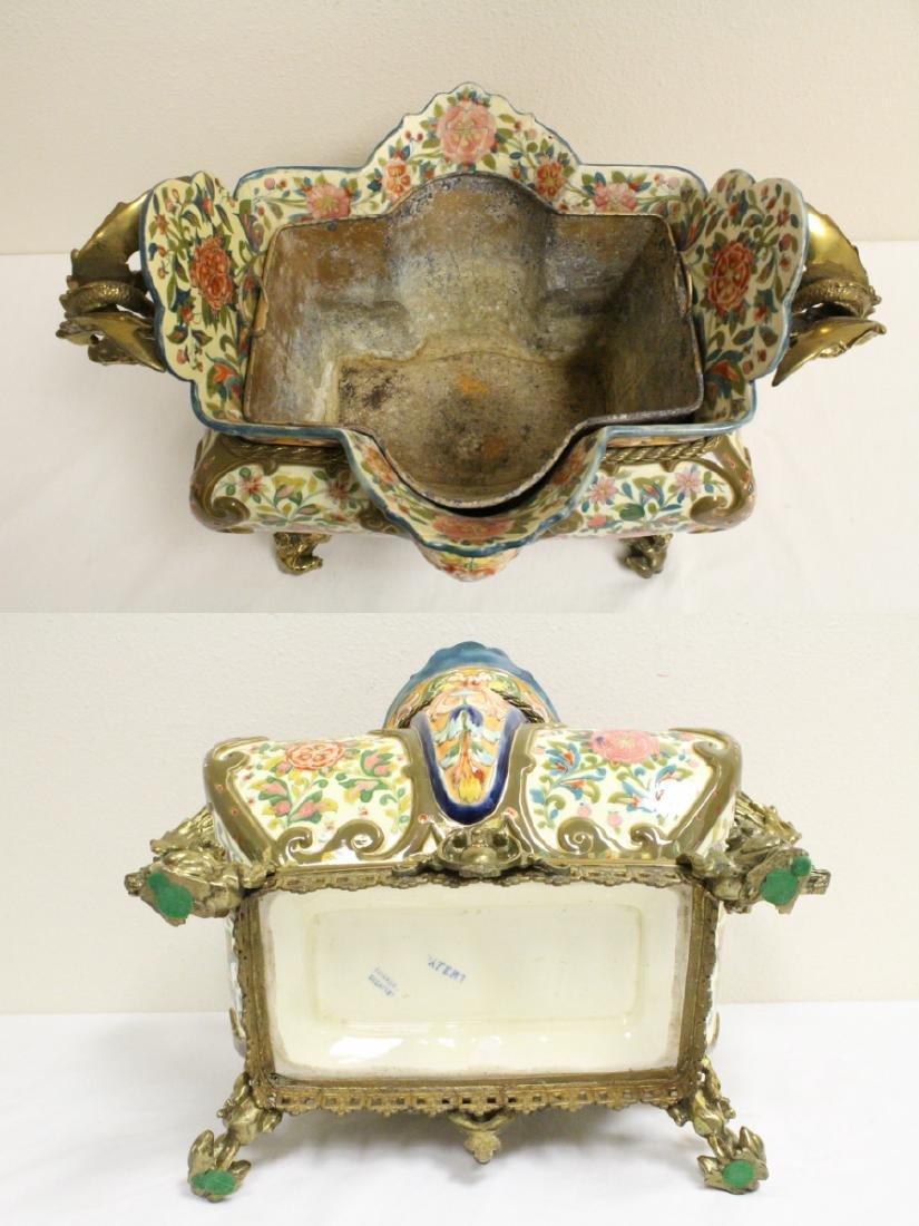Austrian 19th c. hand painted porcelain planter - 5