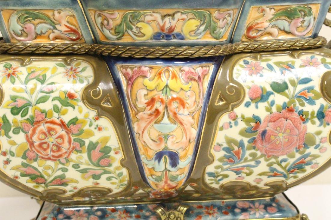 Austrian 19th c. hand painted porcelain planter - 7