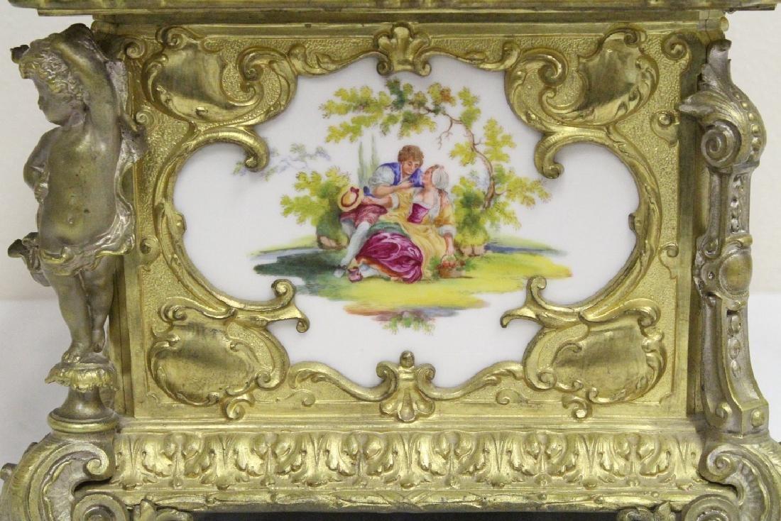 Austrian 19th c. jewelry box w/ Dresden plaques - 5