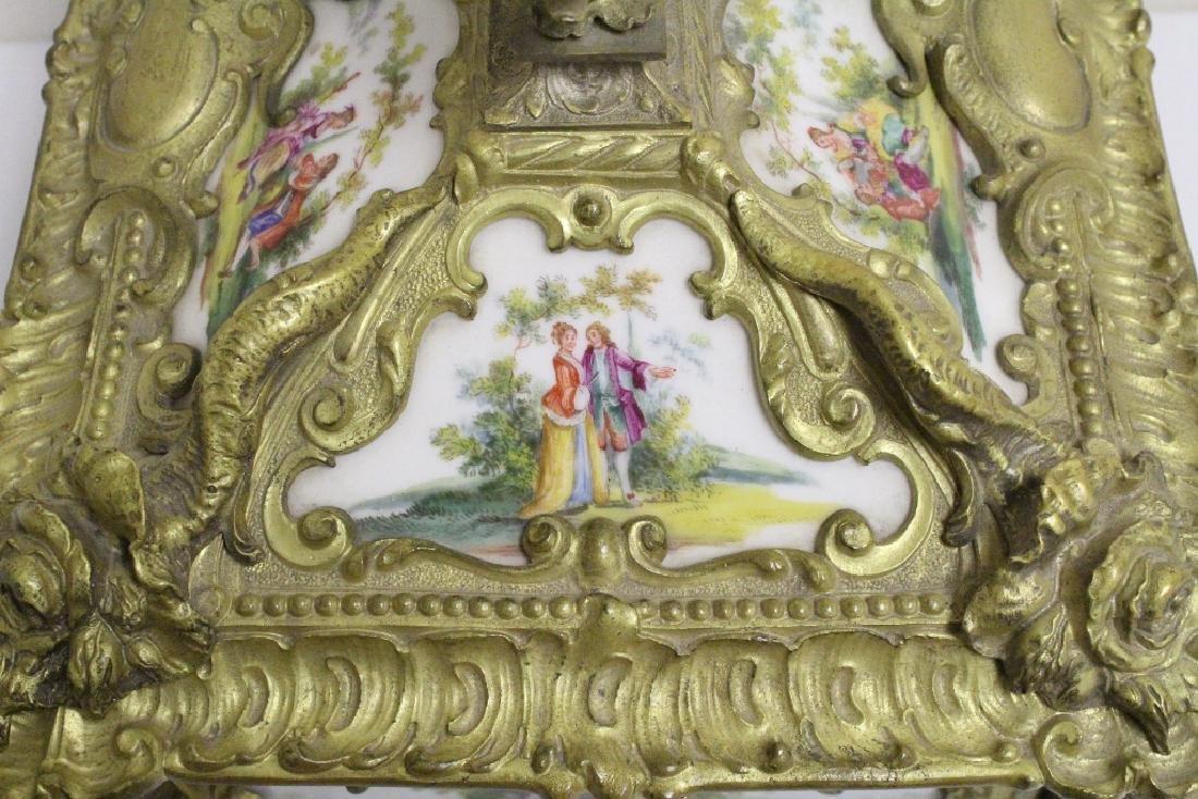 Austrian 19th c. jewelry box w/ Dresden plaques - 6