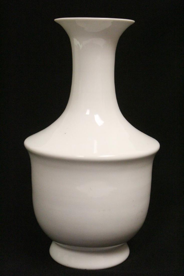 Chinese white porcelain vase - 4