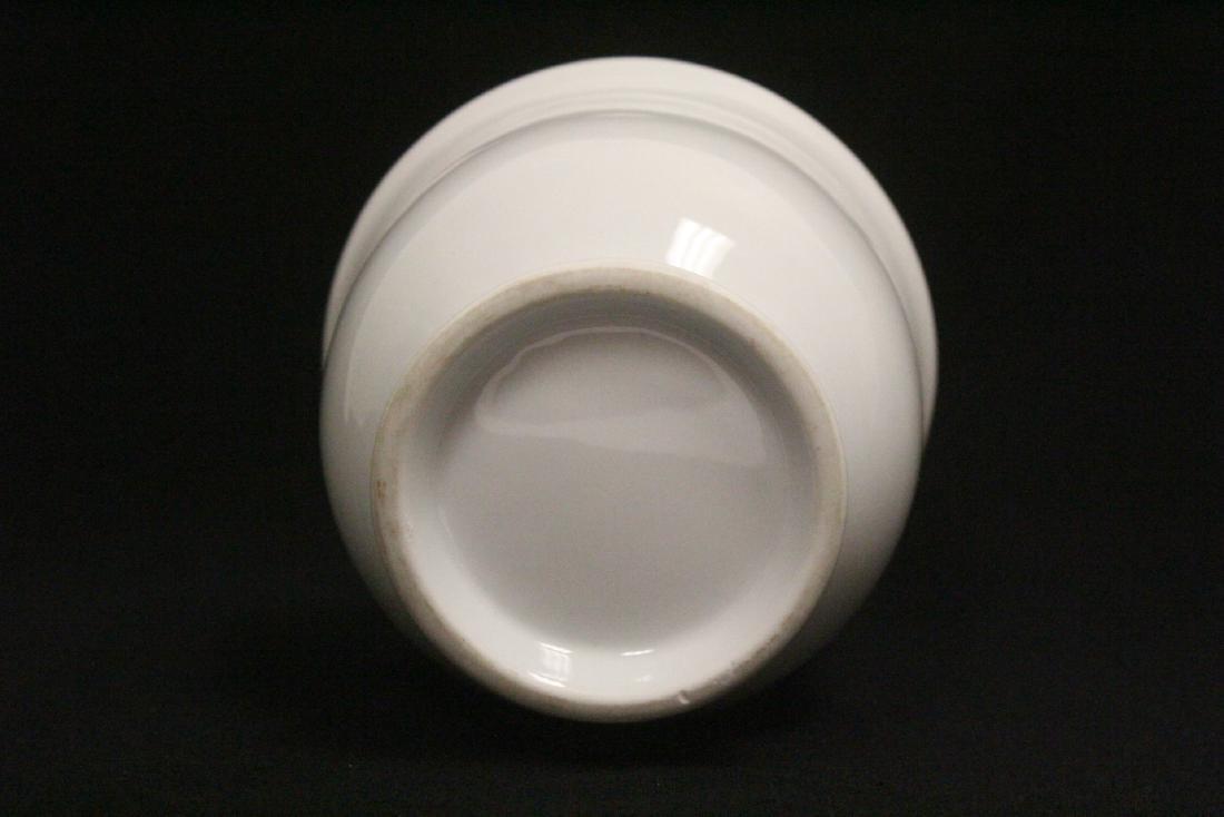 Chinese white porcelain vase - 7