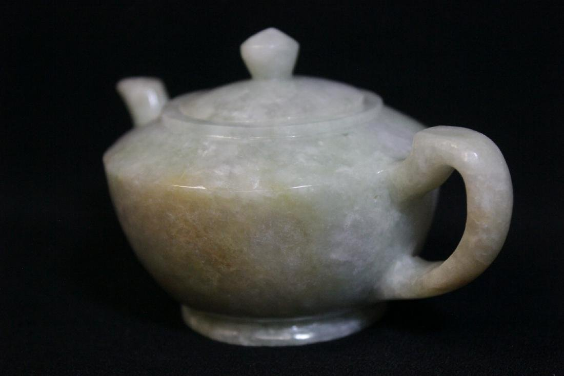 Fine Chinese jade carved teapot - 4